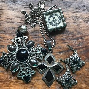 Black and silver jewelry lot